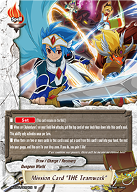"Mission Card, ""THE Teamwork"""