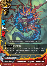 Dimension Dragon, Aplistos