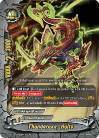 Thunderaxe, Agito