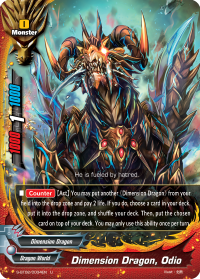 Dimension Dragon, Odio