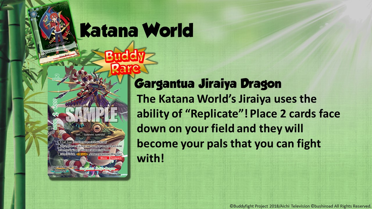 Future Card Buddyfight Updates on sss02 Gargantua Jiraiya Dragon