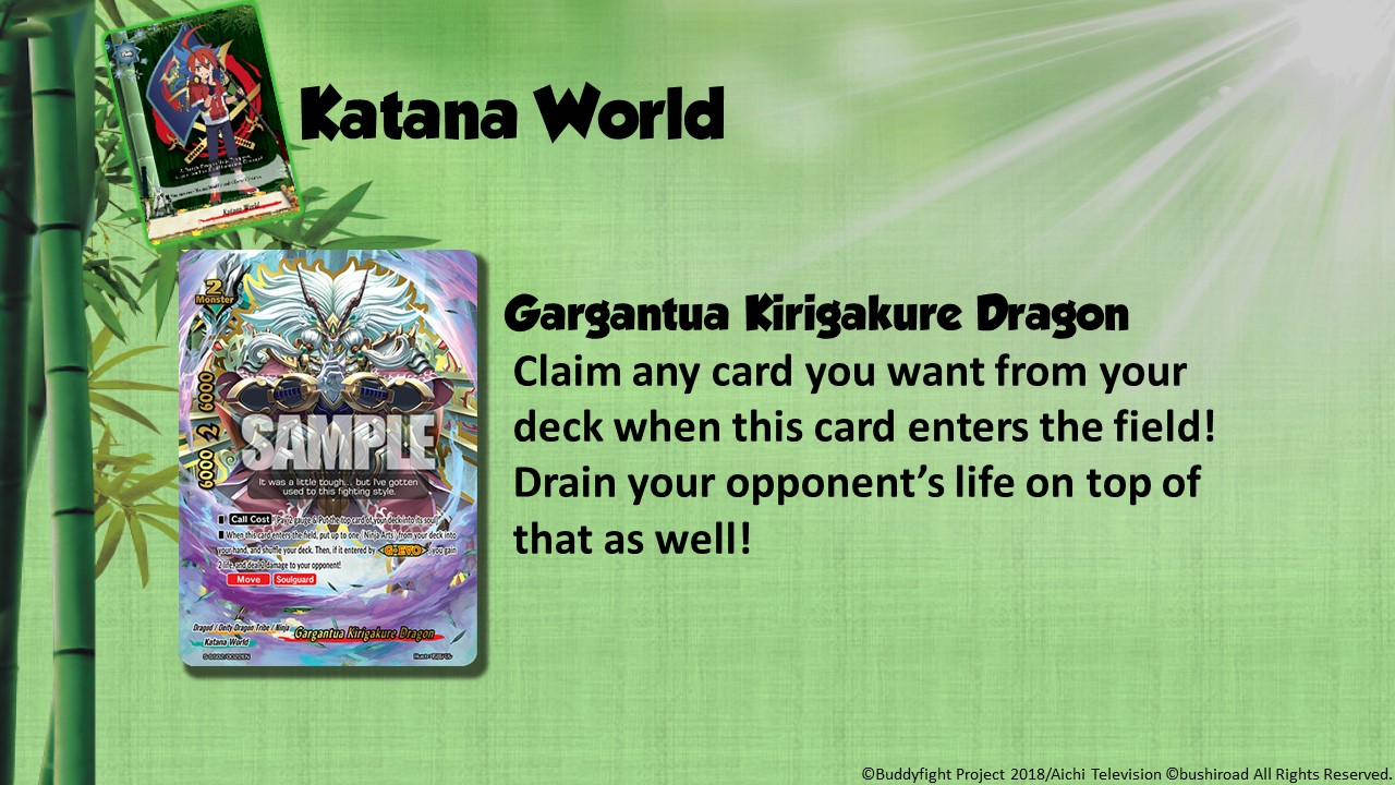 Future Card Buddyfight Updates on sss02 Gargantua Kirigakure Dragon