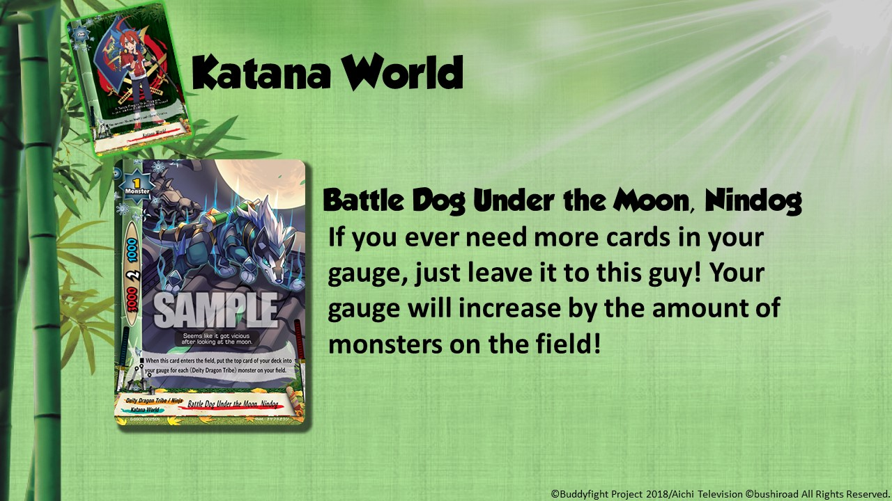 Future Card Buddyfight Updates on sss02 Battle Dog Under the Moon, Nindog