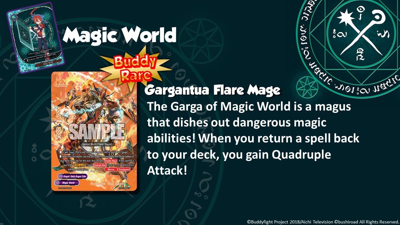 Future Card Buddyfight Updates on sss02 Gargantua Flare Mage