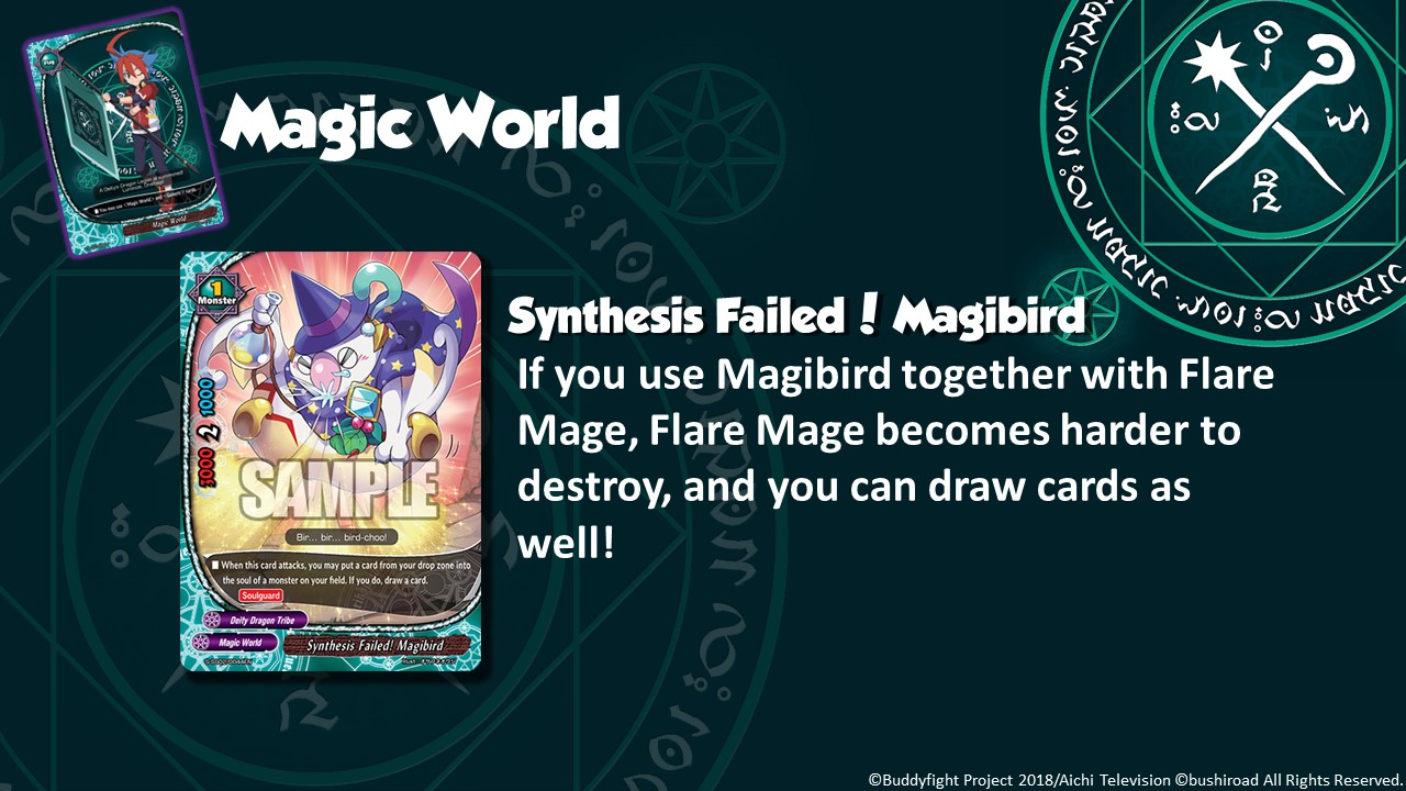 Future Card Buddyfight Updates on sss02 Synthesis Failed Magibird