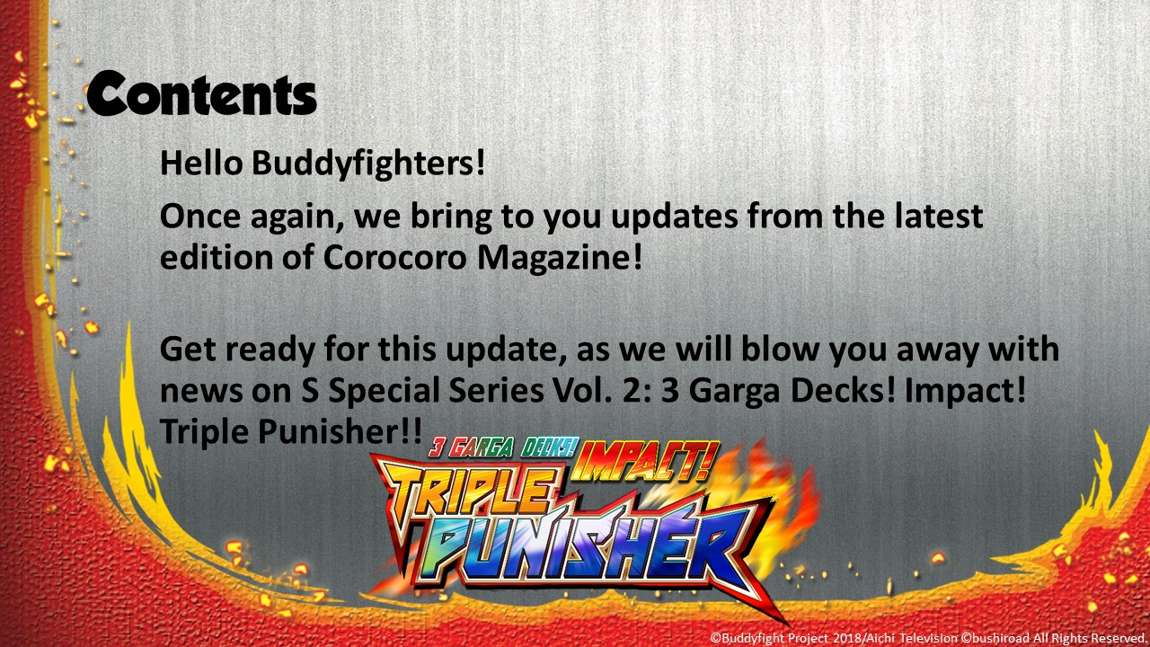 Future Card Buddyfight Updates on sss02 Contents