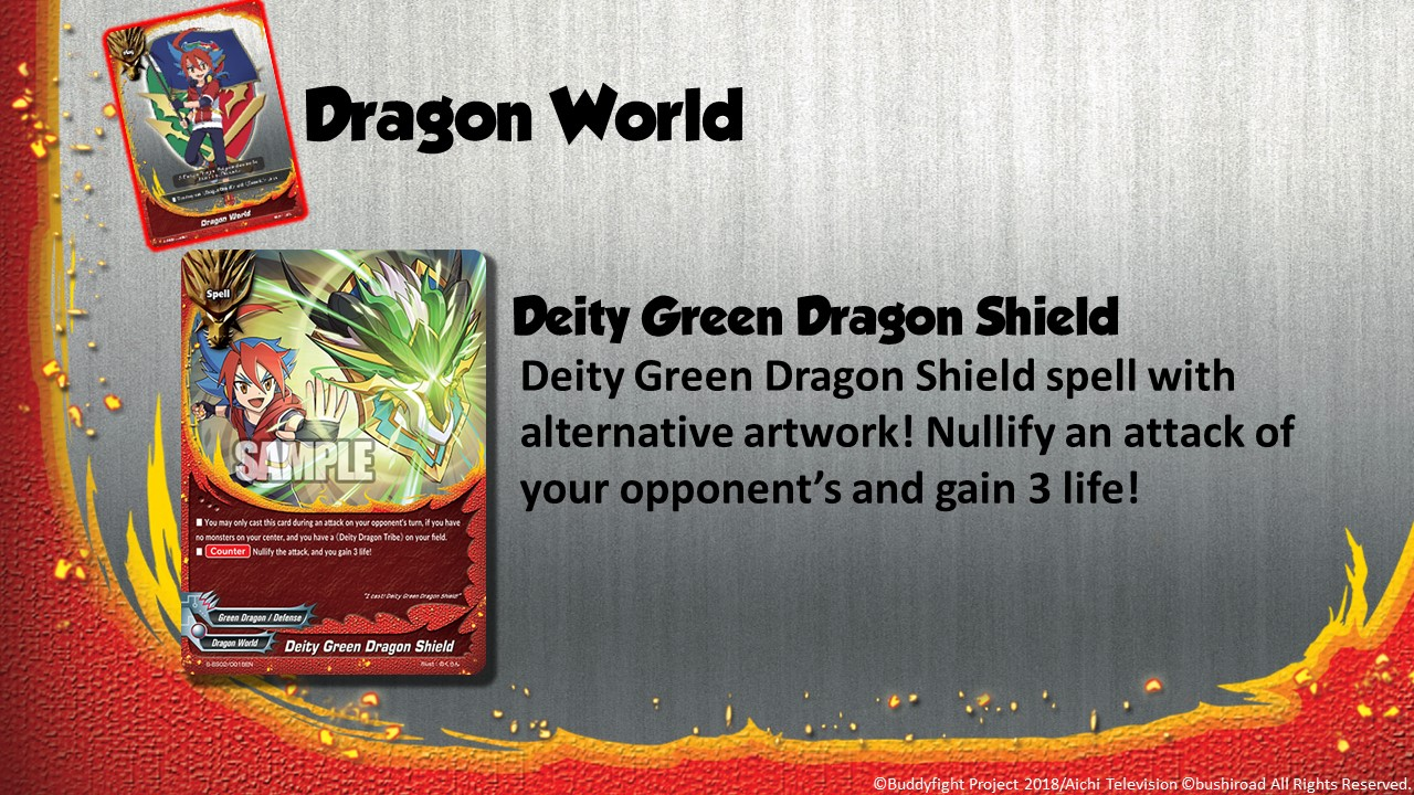 Future Card Buddyfight Updates on sss02 Deity Green Dragon Shield