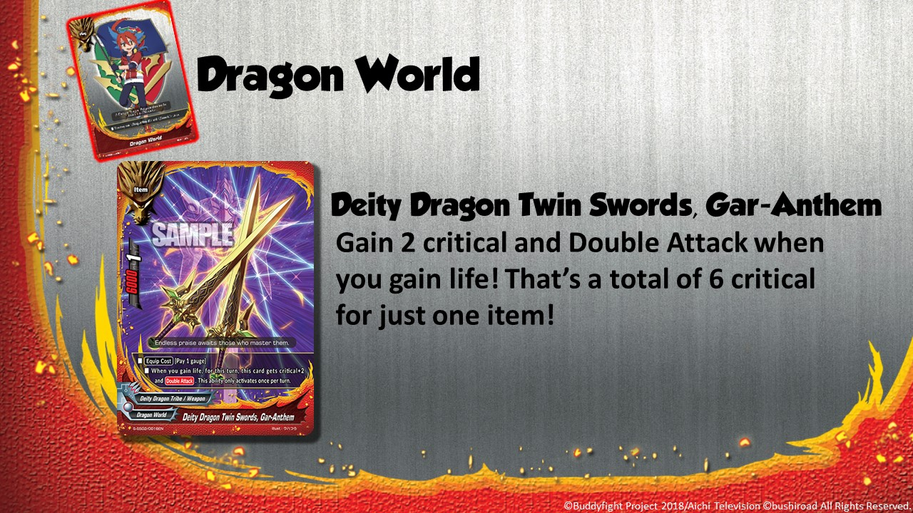 Future Card Buddyfight Updates on sss02 Deity Dragon Twin Swords, Gar Anthem