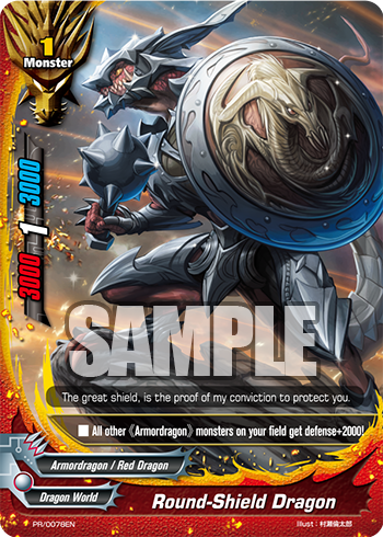 PR/0078EN Round-Shield Dragon